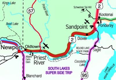 Panhandle Historic Rivers Passage Scenic Byway Map