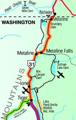 North Pend Oreille Scenic Byway Map
