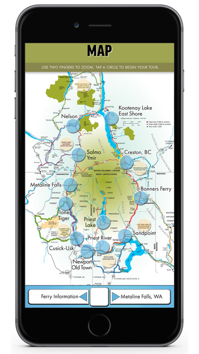 International Selkirk Loop mobile app 2016